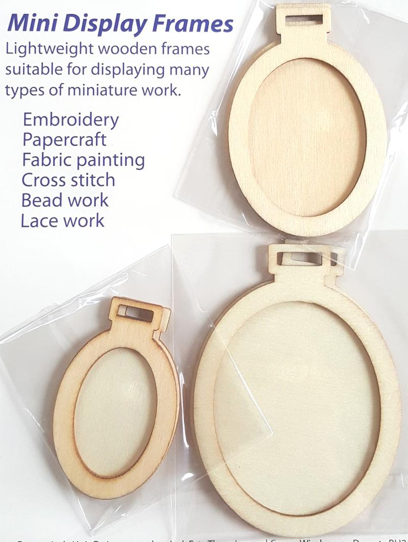 Cross Stitch Corner | 3er Set süße Mini Deko-Rahmen oval aus echtem ...