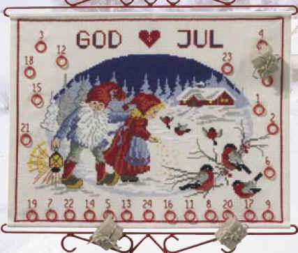 Aida Weihnachtskalender.Permin Of Copenhagen 34 7807 Adventskalender
