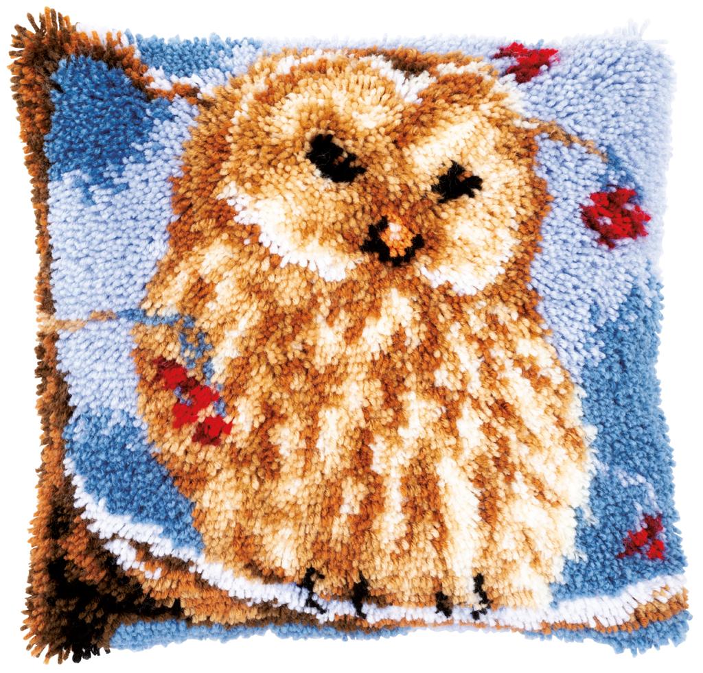 Vervaco Latch Hook Cushion Kit Owl