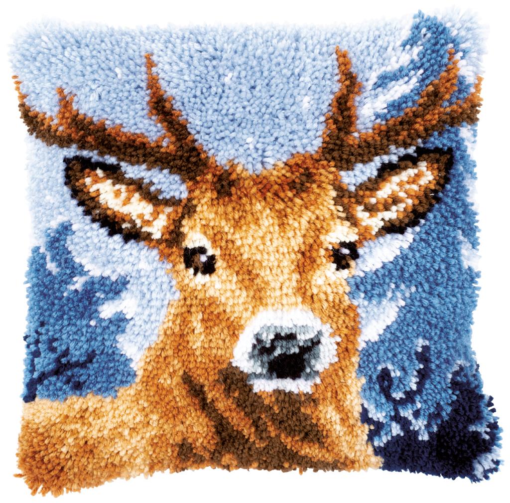 Vervaco Latch Hook Cushion Kit Deer