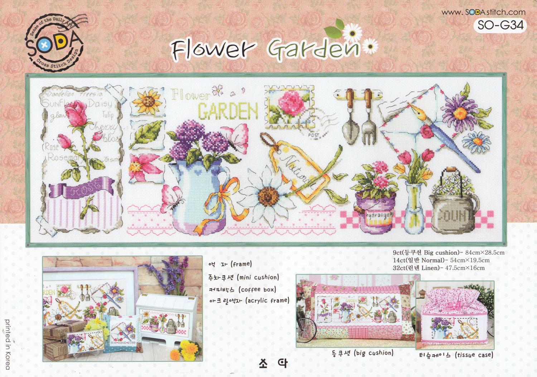 Cross Stitch Corner   Soda Stitch - Flower Garden