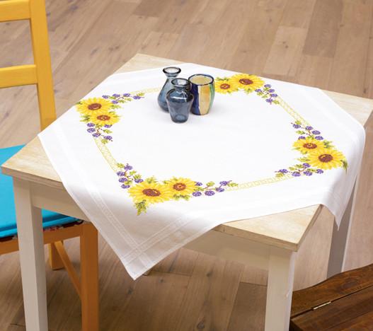 cross stitch corner vervaco decke sonnenblumen. Black Bedroom Furniture Sets. Home Design Ideas