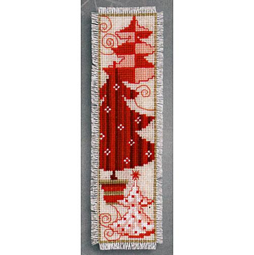 cross stitch corner vervaco roter weihnachtsbaum. Black Bedroom Furniture Sets. Home Design Ideas