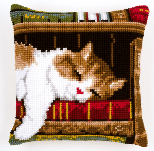 Vervaco Cross Stitch Cushion Books Needlepoint Kit