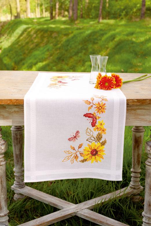 Vervaco Table Runner PN-0147030 Sunflowers Cross Stitch Kit