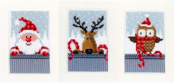 cross stitch corner vervaco weihnachtliche gru karten. Black Bedroom Furniture Sets. Home Design Ideas