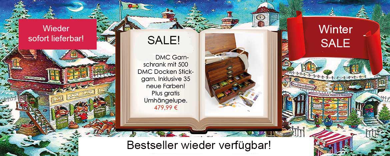 Weihnachtsmarkt Garnschrank - Winter SALE - sofort lieferbar!