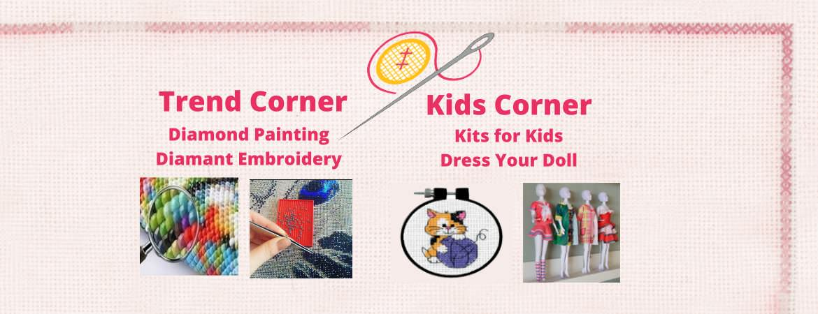 Cross Stitch Corner Trend and Kids Corner