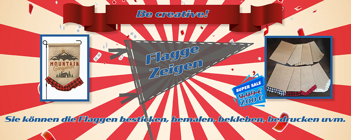 Flaggen & Banner für Ihr Hobby