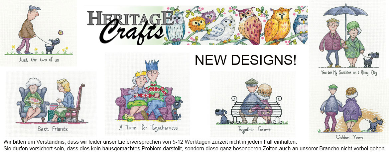 Neue Designs von Heritage Stitchcrafts