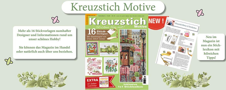 Das Magazin für Sticken im Kreuzstich! Kreuzstich Motive 23 Frühling/Sommer 2021