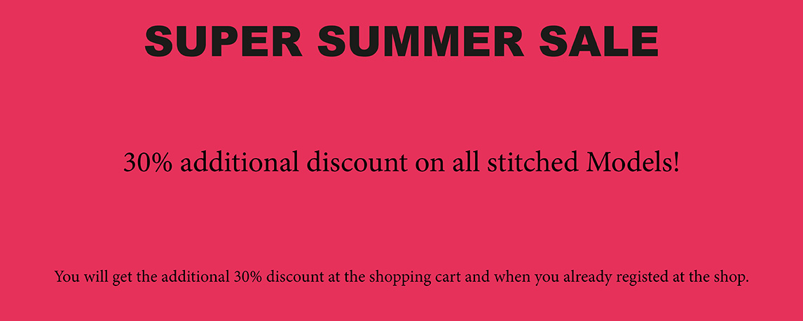 30% additional discount on all stitched Models!