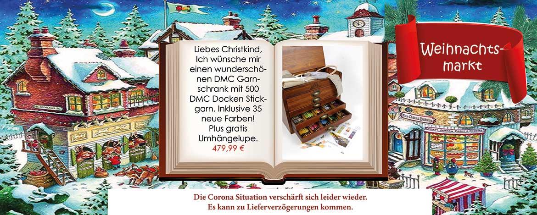 Weihnachtsmarkt Garnschrank - Christmas SALE sofort lieferbar!