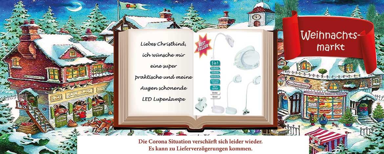 Weihnachtsmarkt Lupenlampe Christmas SALE- sofort lieferbar!